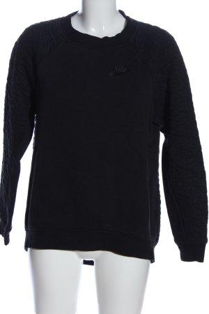 Nike Sweatshirt schwarz Schriftzug gestickt Casual-Look