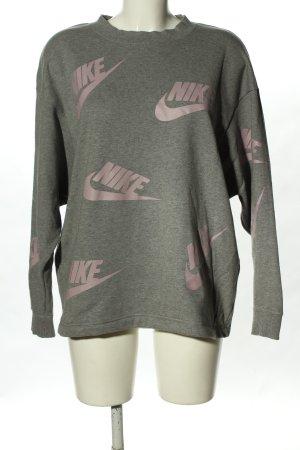 Nike Sweatshirt hellgrau-pink meliert Casual-Look
