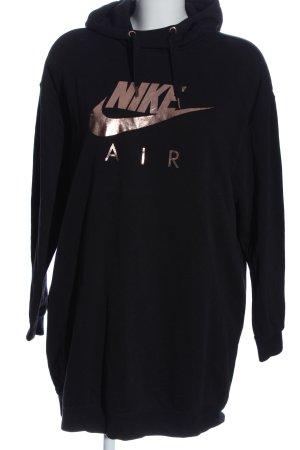 Nike Sweatshirt schwarz-creme Motivdruck Casual-Look