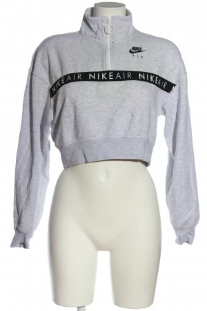 Nike Sweatshirt weiß-schwarz meliert Casual-Look