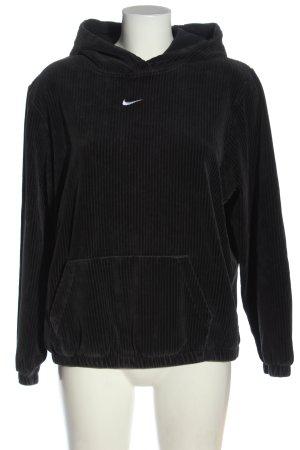 Nike Sweatshirt schwarz Streifenmuster Casual-Look