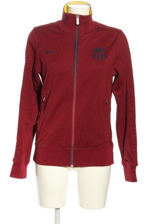 Nike Sweatshirt braun-blau Motivdruck Casual-Look
