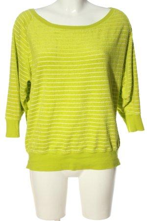 Nike Sweatshirt blassgelb Streifenmuster Casual-Look