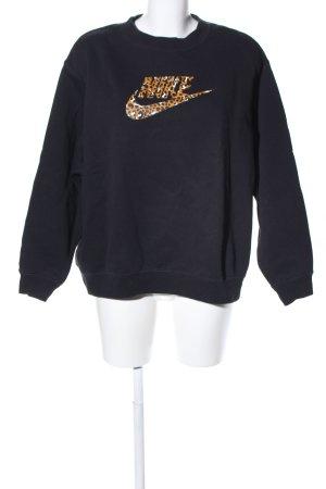 Nike Felpa nero-arancione chiaro puntinato stile casual