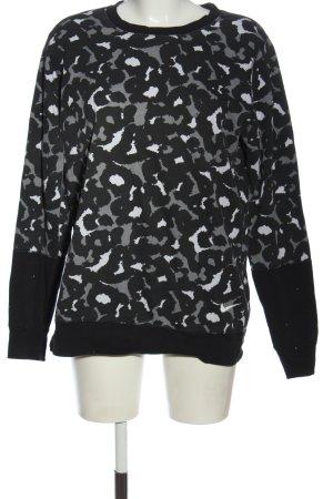 Nike Sweatshirt schwarz-hellgrau Allover-Druck Casual-Look