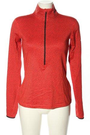 Nike Sweatshirt rot-schwarz Punktemuster Casual-Look