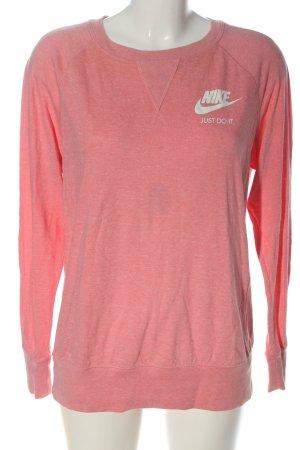 Nike Sweatshirt pink-wollweiß meliert Casual-Look