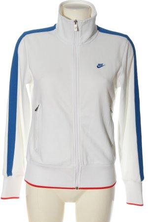Nike Sweatshirt weiß-rot Schriftzug gestickt Casual-Look