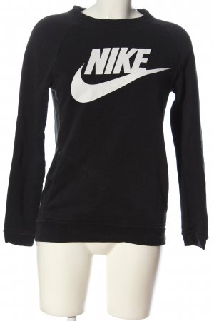 Nike Sweatshirt schwarz-weiß Motivdruck Casual-Look