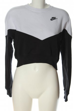 Nike Sweatshirt weiß-schwarz Casual-Look