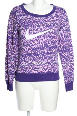 Nike Sweatshirt Allover-Druck Casual-Look