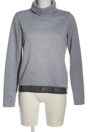 Nike Sweatshirt hellgrau-schwarz meliert Casual-Look