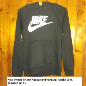 Nike Sweatshirt mit Kapuze, Gr. XS