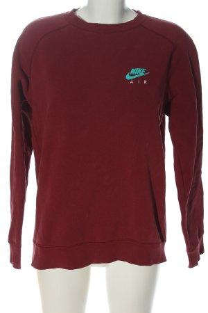 Nike Sweatshirt rot Schriftzug gedruckt Casual-Look