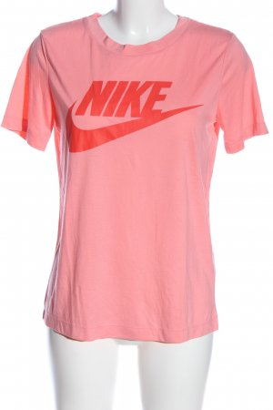 Nike T-Shirt pink-rot Motivdruck Casual-Look