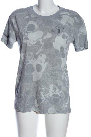 Nike T-Shirt hellgrau Allover-Druck Casual-Look