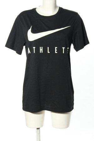 Nike T-Shirt schwarz-weiß Motivdruck Casual-Look