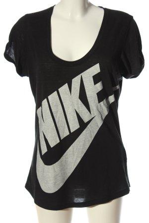 Nike T-Shirt schwarz-hellgrau meliert Casual-Look