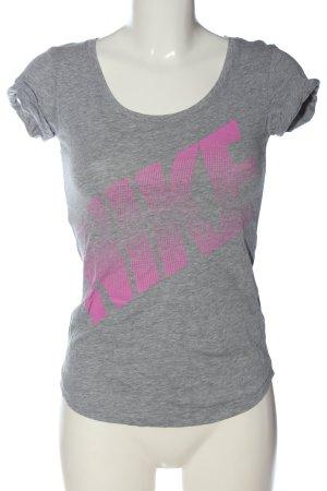 Nike T-Shirt hellgrau-blau Schriftzug gedruckt Casual-Look