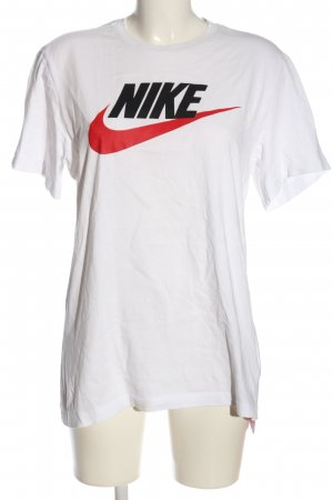 Nike T-Shirt weiß Motivdruck Casual-Look