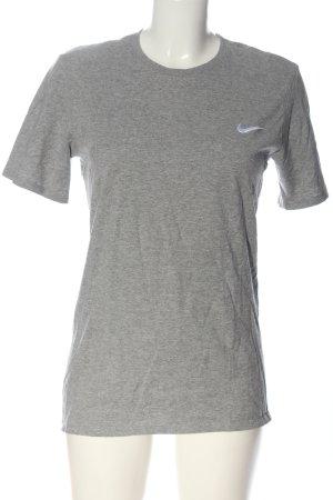 Nike T-Shirt hellgrau meliert Casual-Look