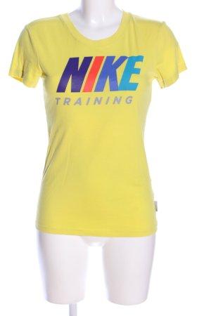 Nike T-Shirt blassgelb Motivdruck Casual-Look