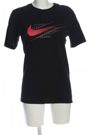 Nike T-Shirt schwarz Motivdruck Casual-Look