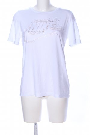 Nike T-Shirt weiß-goldfarben Casual-Look