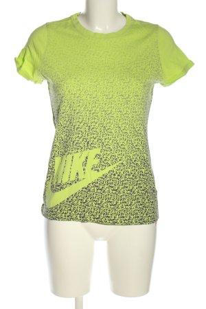 Nike T-shirt vert-gris clair motif abstrait style décontracté