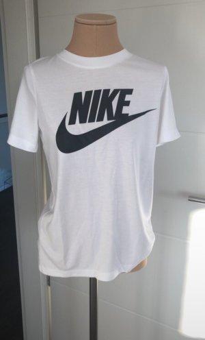 Nike T-shirt blanc-noir