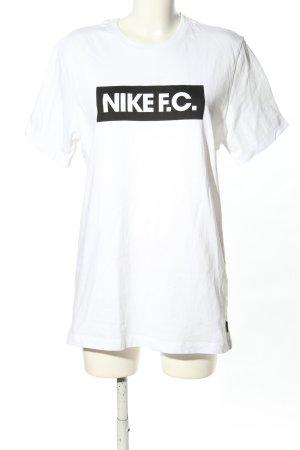 Nike T-Shirt weiß Schriftzug gedruckt Casual-Look
