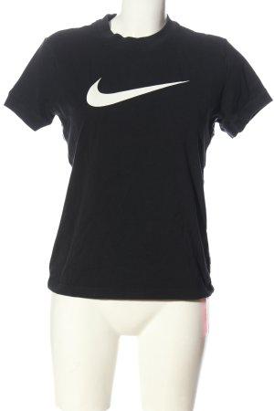 Nike T-Shirt schwarz Motivdruck sportlicher Stil