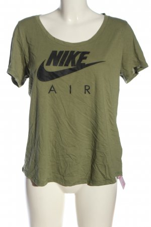 Nike T-Shirt khaki-schwarz Motivdruck Casual-Look