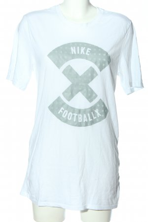 Nike T-Shirt weiß-hellgrau Motivdruck Casual-Look