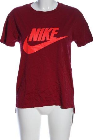 Nike T-Shirt rot Schriftzug gedruckt Casual-Look
