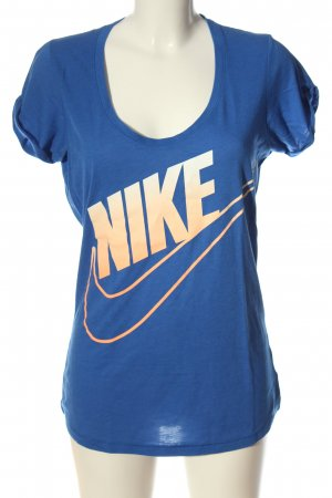 Nike T-Shirt blau Farbverlauf Casual-Look