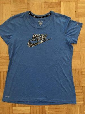 Nike T-Shirt, Funktionsshirt, Sport, Gr. L, Blau, TOP!