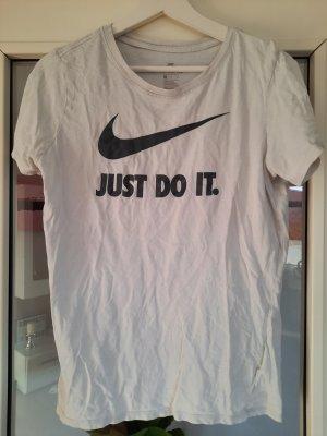 Nike T-Shirt Größe M Weiß schwarz Just Do it. Sportmode
