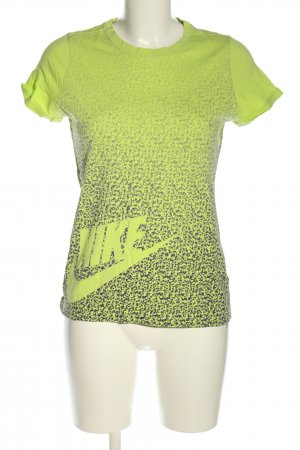 Nike T-Shirt grün-hellgrau abstraktes Muster Casual-Look