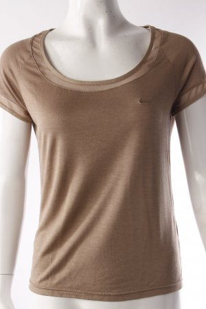 Nike T-Shirt Mesh-Einsatz beige