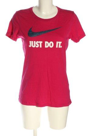 Nike T-Shirt pink Motivdruck Casual-Look