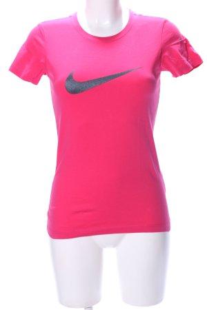 Nike T-shirt rose imprimé avec thème style athlétique