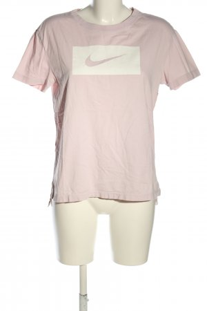 Nike T-Shirt pink-weiß Motivdruck Casual-Look