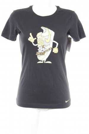 Nike T-Shirt schwarz Motivdruck Casual-Look