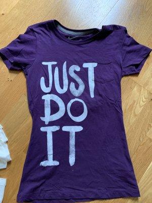 Nike T-Shirt Shirt Oberteil Größe S 36 lila neu Oberteil Top