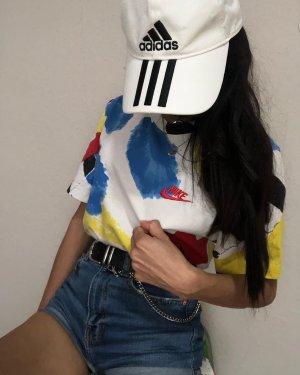 Nike T-Shirt Vintage Look verblassener Tarnmuster buntes Shirt Gr.XS/S