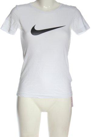 Nike T-Shirt weiß-schwarz Casual-Look