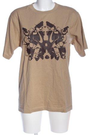 Nike T-Shirt wollweiß-braun Motivdruck Casual-Look