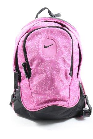 Nike Tagesrucksack pink abstraktes Muster sportlicher Stil