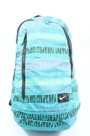 Nike Tagesrucksack türkis-schwarz abstraktes Muster Casual-Look